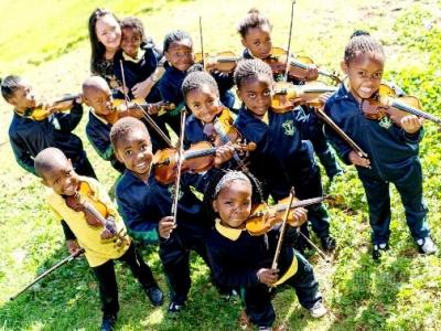 Suzuki Violinists perform for Cape Town SOUTH AFRICA