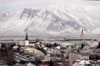 Panorama view Reykjavik capital Iceland December2